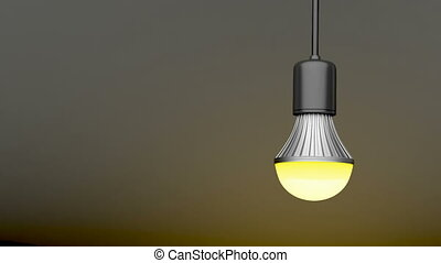 Swinging LED light bulb