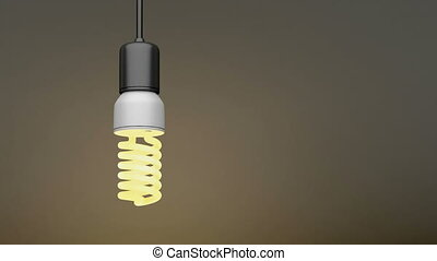 Swinging light bulb
