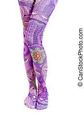 Swinging Sixties Legs - Woman\\\'s legs dressed in wild,...
