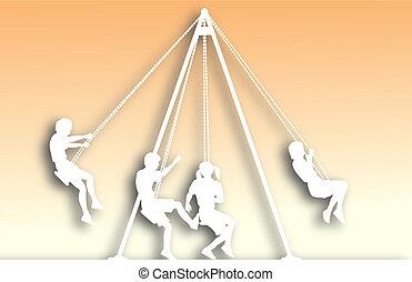 Swings cutout