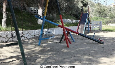 Swings on playground