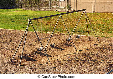 Swingset - Emply swingset on a playground