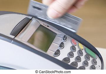 swiping, kreditkarte