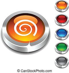 . Swirl 3d button set. Vector illustration. .