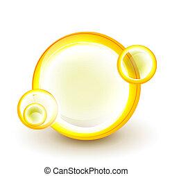 swirl, abstrakt, banner, cirkel