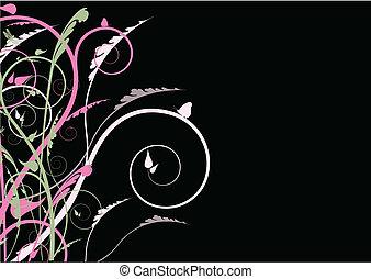swirl background on black
