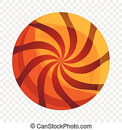Swirl biscuit icon, cartoon style