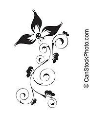 swirl, blomstret mønster