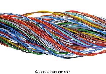 Swirl cable isolated on white backround