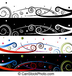 Swirl Celebration Banner Set