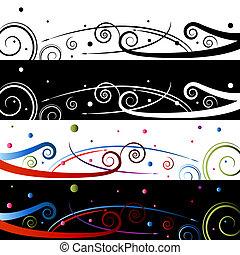 Swirl Celebration Banner Set