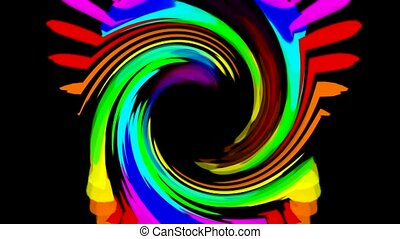 swirl color streak and rays laser