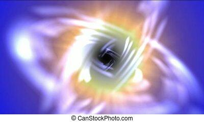 swirl curve light around black hole