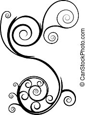 Swirl element isolated on a white background.