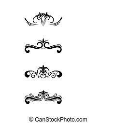 Swirl elements and monograms