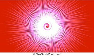 swirl fiber lines shaped hole