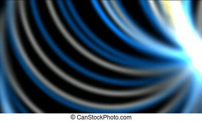 swirl fiber optic launch rays light