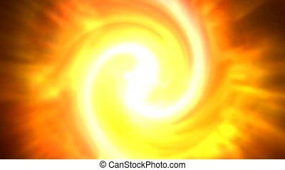 swirl fire cyclones shaped tunnel