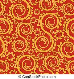 Swirl floral seamless