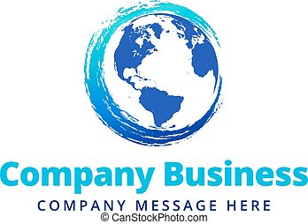 Swirl Global Company Business Logo