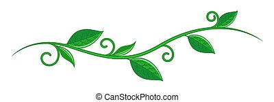 Abstract Artistic Grunge Vintage Nature Eco Friendly Autumn Spring Leaves Twig Element Vector Shape Design Isolated on White