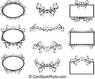 Swirl Monograms Border And Frames Set