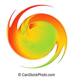 Swirl motion design. - Abstract multicolor backdrop. Swirl...