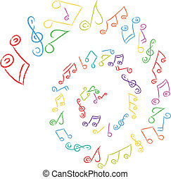 swirl music notes