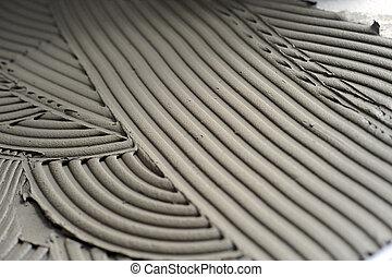 Swirl pattern in grout