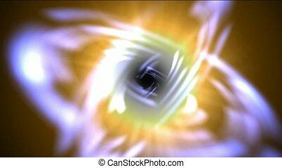 swirl ray light around black hole,t