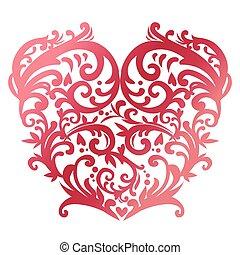 Swirl Red Heart