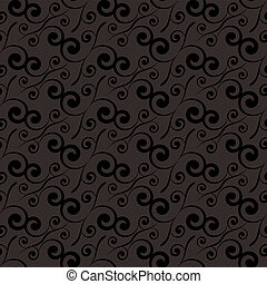 swirl repeat black - Black and grey seamless tile background