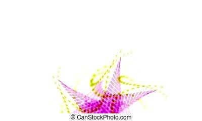 swirl ribbon and splash particles shaped flower mandala...