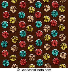 swirl round design pattern