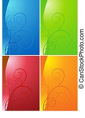 Swirl Shape Background