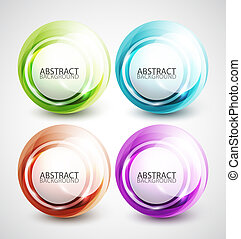 Swirl shapes - Abstract swirl circle colorful design