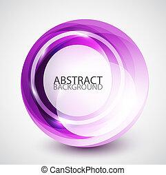 swirl, sphere, abstrakt, baggrund