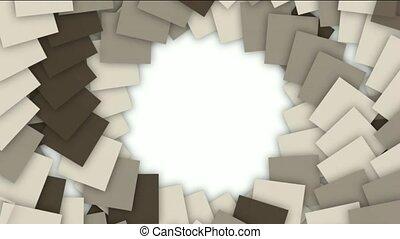 swirl square paper cards tunnel
