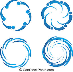 Swirl swooshes - Set of Swirl swooshes