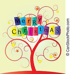 swirl, træ, jul