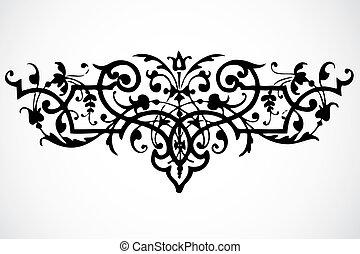 swirl, vektor, ornamentere