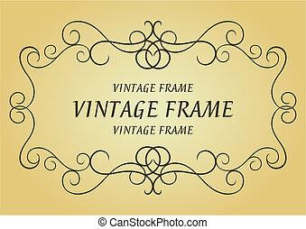 Swirl vintage frame for design as a background