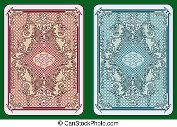 Swirled cards back - Playing cards back swirleddesign