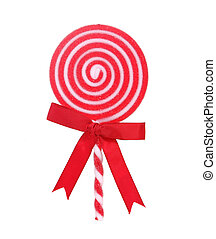Red and White Holiday Lollipop