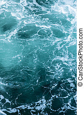 Swirling blue Waters in Pacific Ocean Vertical Background Image