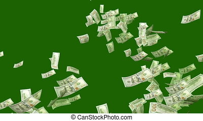 """""""Swirling Dollars in the Dark Green Backdrop"""" - """"A cheerful..."""