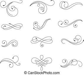 Swirling elements