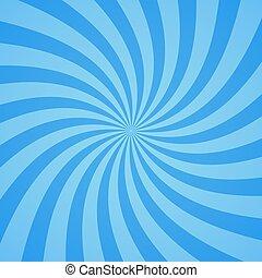 Swirling radial pattern background. Vector illustration for...