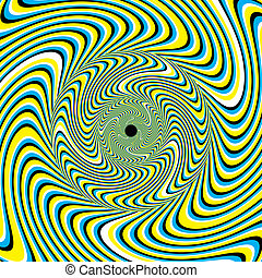 Swirlpool (motion illusion) - Striped shapes appear to move...
