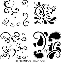 Swirls - Pack of different type of swirl motifs